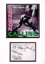 The Clash Autograph Signed Display